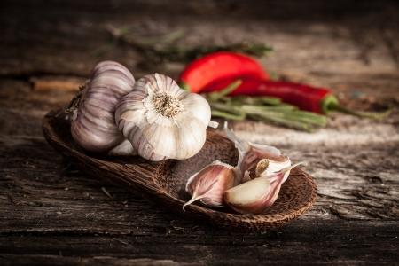 유기농 마늘과 고추