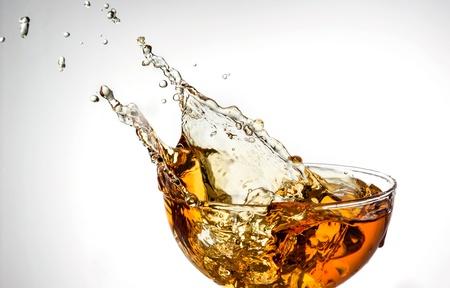 ice tea: ice tea  splash in glass
