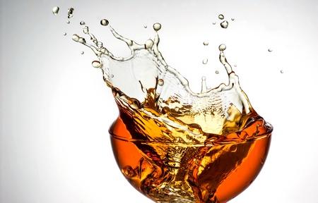 ice tea  splash in glass