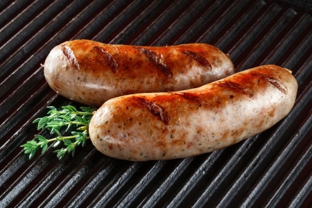 barbecued: Barbecued pork sausages