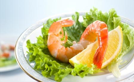 Shrimp Salad with mixed greens photo