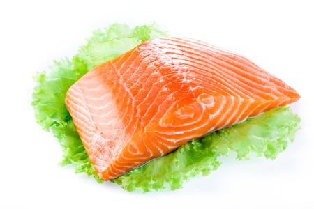 filet de saumon isolé