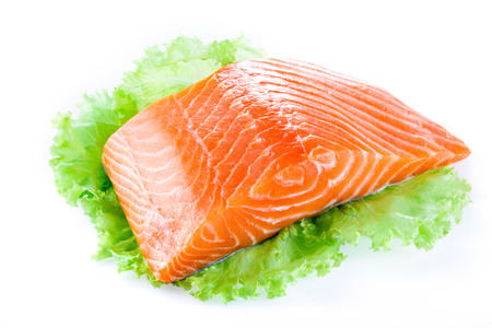 salmon fillet isolated photo