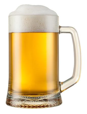pul bier geïsoleerd.