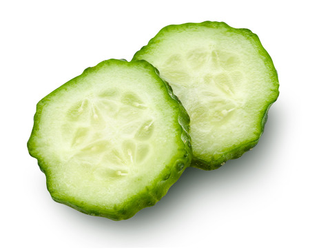 cucumbers: Cucumber slice isolated.  Stock Photo