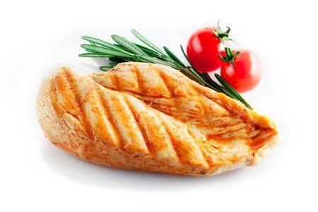 pechos: Pechuga de pollo a la parrilla Foto de archivo