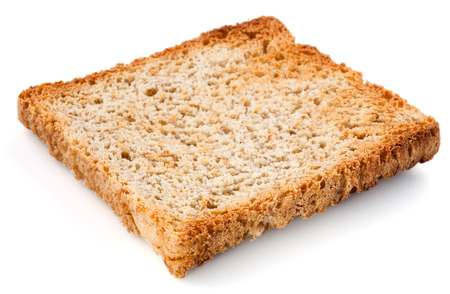 White bread slice. Toast Isolated. photo