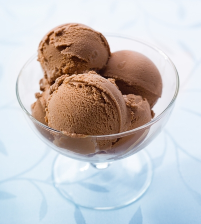helado de chocolate: Ice crema de chocolate