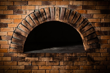 baking oven: A traditional oven for cooking and baking pizza