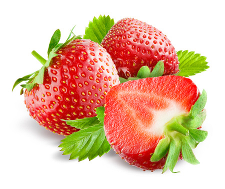 Strawberry Collection isolé sur blanc