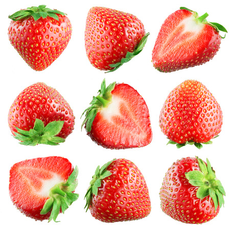 Strawberry  Fruits on white  Collection