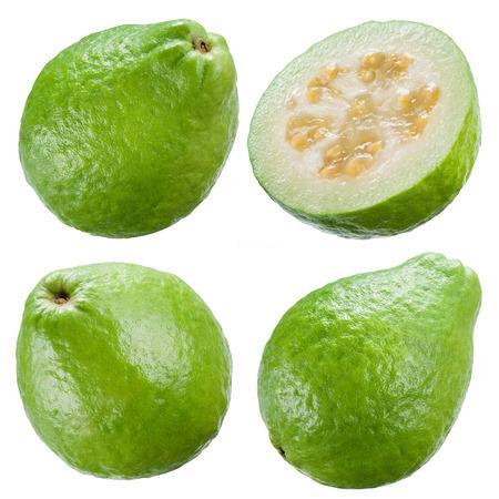 guayaba: Guayaba aislados sobre fondo blanco. Colecci�n