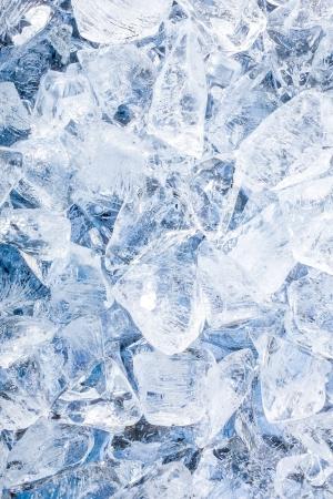 Ice cubes. Blue background Stock Photo