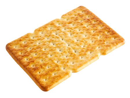 galletas integrales: Cracker (galletas, galletas, productos de pastelería) aislado en blanco