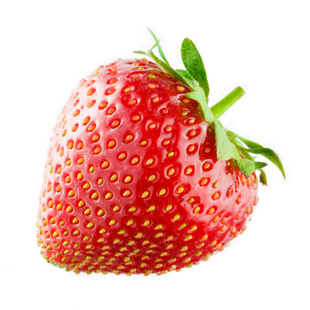single object: Strawberry isolated on white  Stock Photo