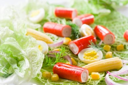crabmeat: Crab salad