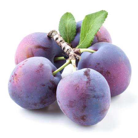 purple leaf plum: Plum isolated on white Stock Photo
