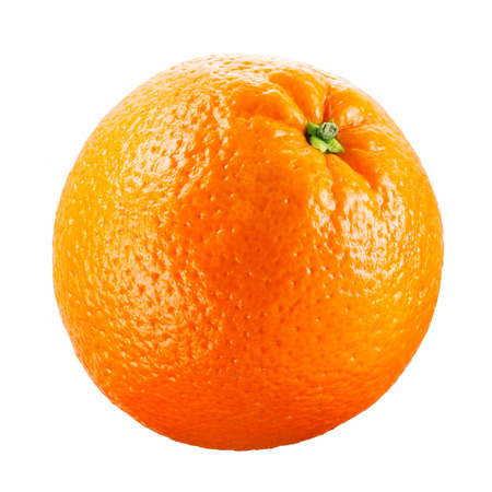 naranja fruta: Frutas de color naranja sobre fondo blanco