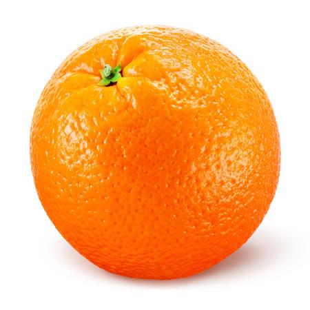 白で隔離オレンジ色の果物