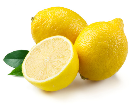 레몬 화이트에 격리 스톡 콘텐츠