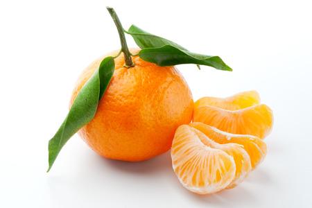 mandarin on white photo