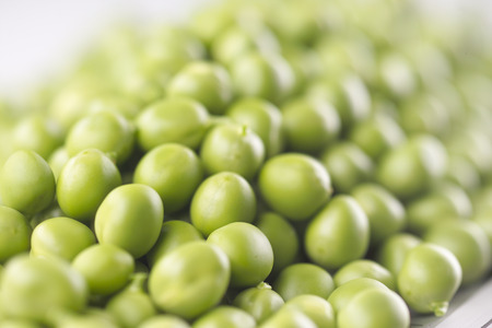 Fresh pea with soft focus photo