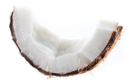 coco: Coconut. Pieza de fruta aislada en blanco