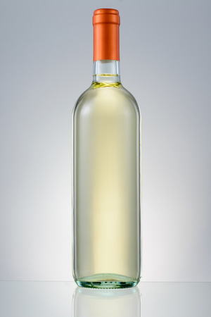 White wine bottle isolated photo