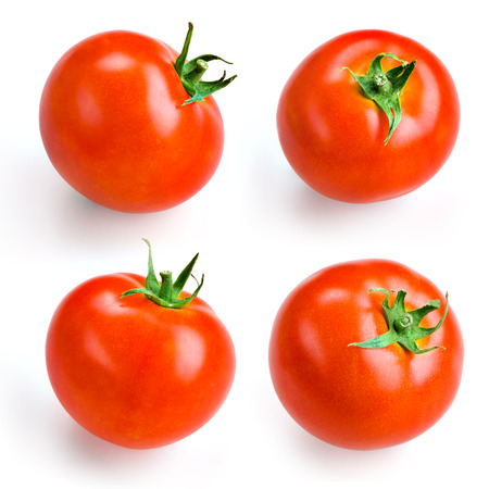 Tomato isolated on white  Collection Stock Photo