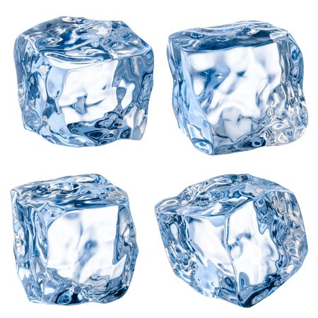 ice cube: Cubes of ice isolated on white  Stock Photo
