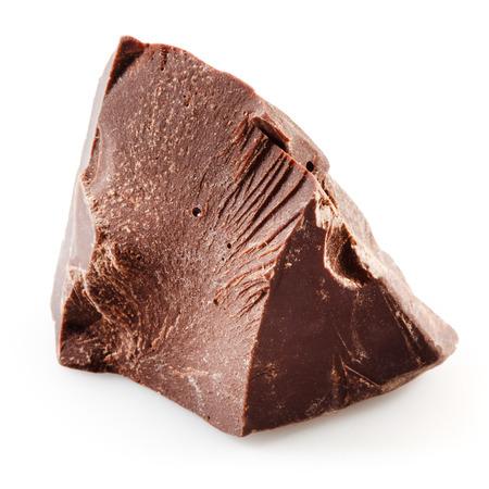 chunk: Chocolate chunk isolated on white background Stock Photo