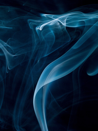 Abstract smoke isolated on black. Background photo