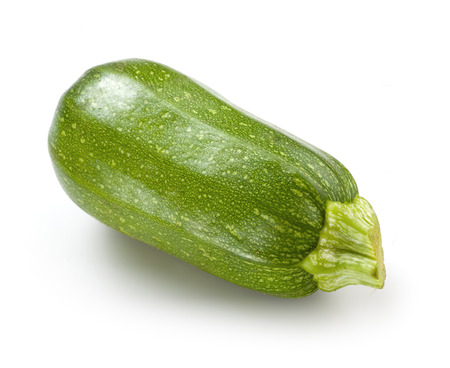 marrow squash: Zucchini  Green courgette on white background Stock Photo