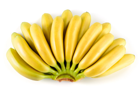 banana skin: Bananas. Bunch isolated on white background