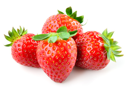 Strawberry. Berries isolated on white background. photo