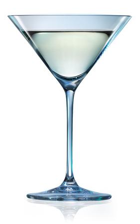 copa martini: Vaso de martini aislado en blanco. Con trazado de recorte