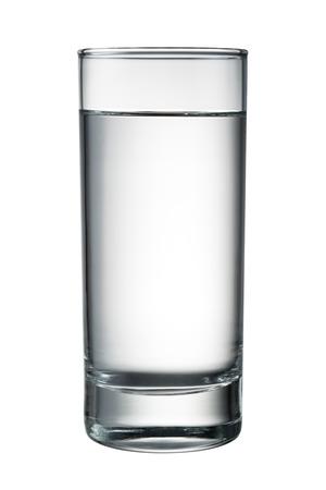 vaso de agua: Vidrio de agua aislado en blanco.