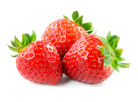 Strawberry isolated on white background. Фото со стока