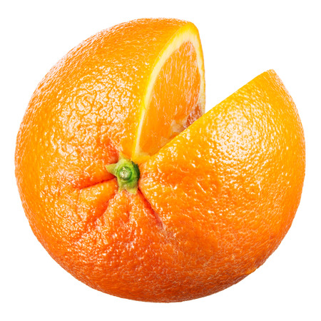 orange slice: Orange. Fruit with cut isolated