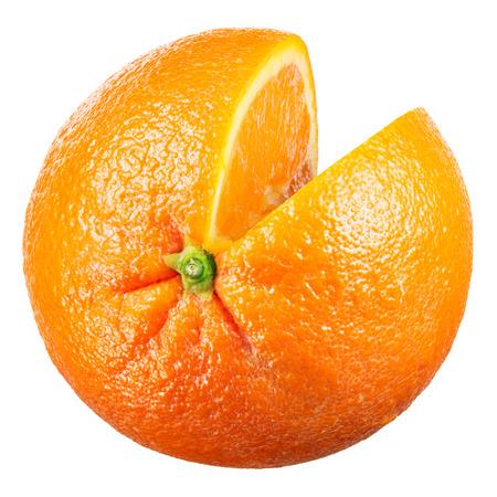 Orange. Fruit with cut isolated