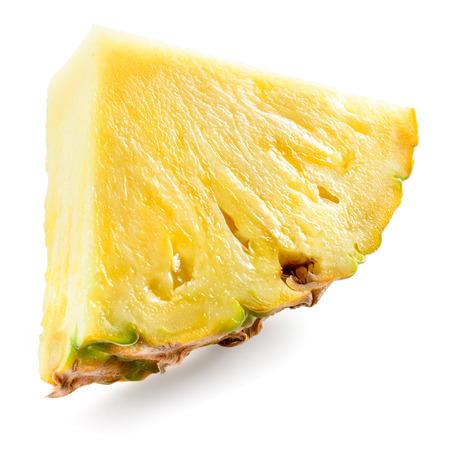 白い背景に分離されたパイナップルの作品。