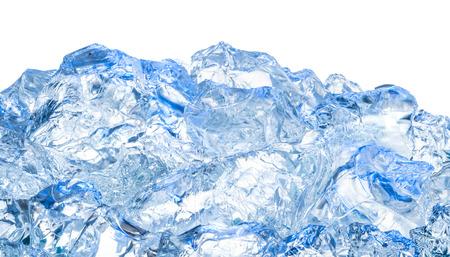 agua potable: Hielo. Fondo azul Foto de archivo