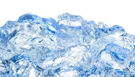 Ice. Blue background