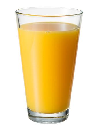 verre de jus d orange: Du jus d'orange. Verre isolé. Avec le chemin de détourage