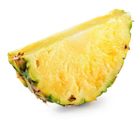 Pineapple slice isolated on white