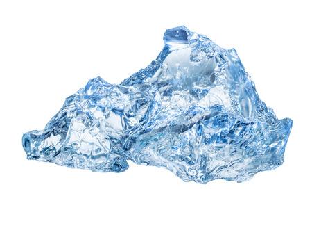 Cube de glace isolé sur blanc Banque d'images - 36495205