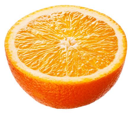 Orange. Half of fruit isolated on white background Фото со стока