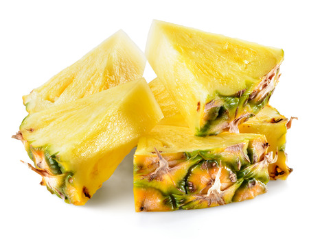 pineapple: Pineapple slices isolated on white background. Stock Photo