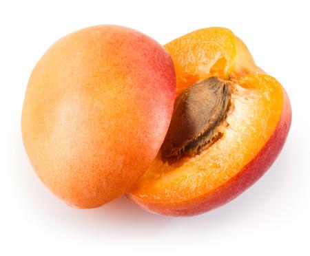 apricot kernel: Ripe apricot in closeup