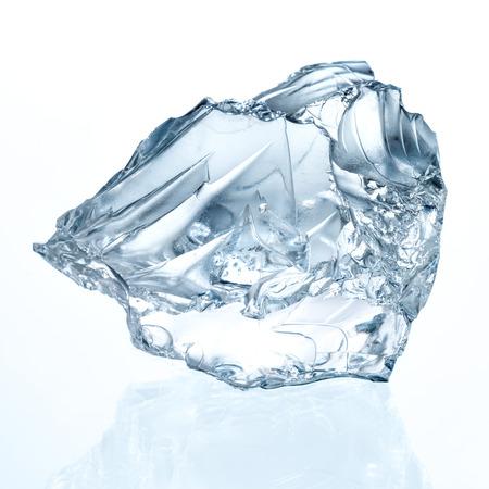 melting ice: Ice cube isolated on white.